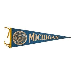 University of Michigan Felt Flag