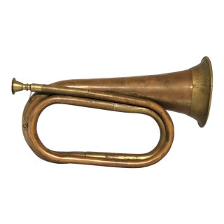 Early 20th Century Antique Copper Military Bugle For Sale