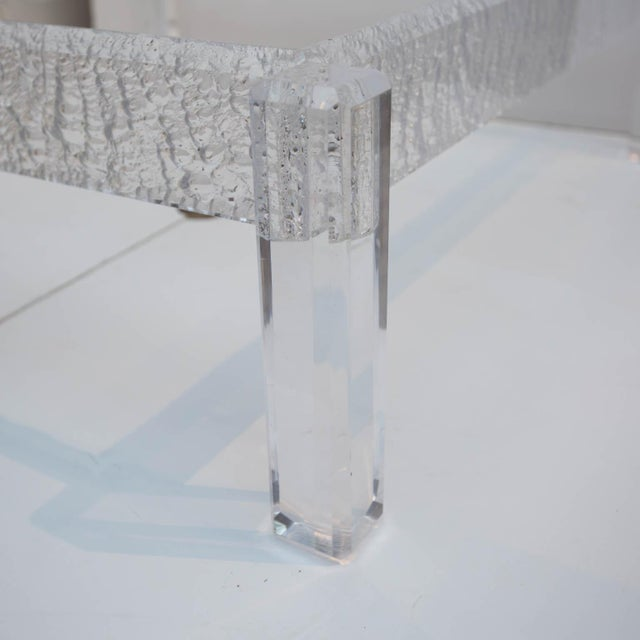 Large Custom Lucite Coffee Table Base For Sale - Image 5 of 9