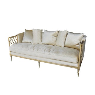 Modern Hollywood Regency Style Sofa by Caracole For Sale