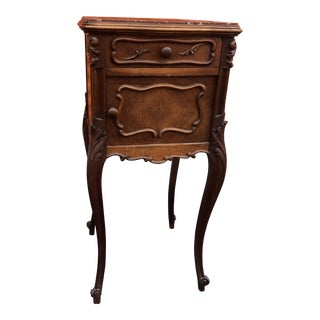 French Walnut Chamber Pot Cabinet