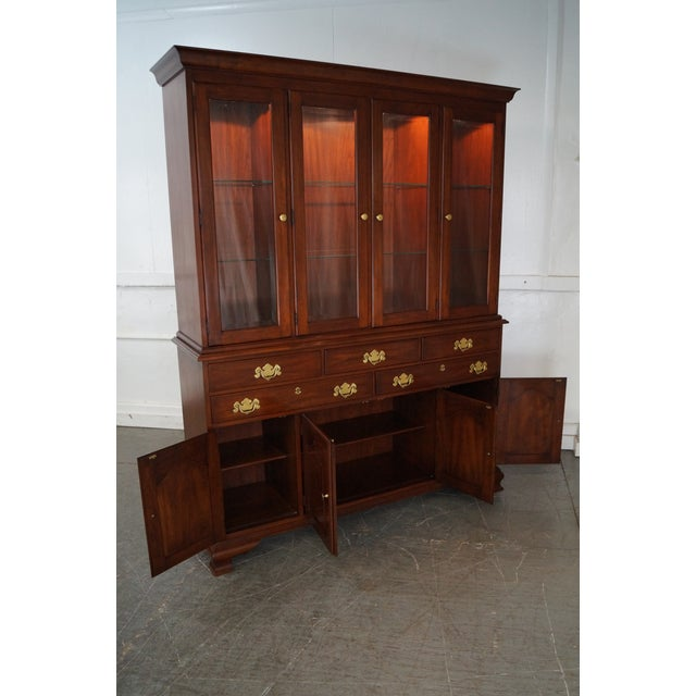 Henkel Harris Solid Cherry 2 Piece Breakfront China Cabinet - Image 8 of 10