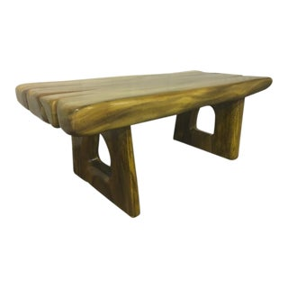 Style of Alexandre Noll Sturdy Solid Wood Coffee Table
