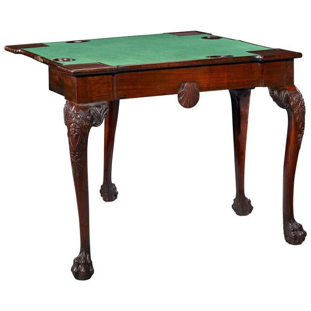 18th Century Mahogany Irish Games Table For Sale In New Orleans - Image 6 of 6