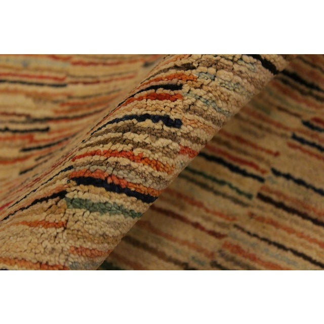 Gabbeh Peshawar Blair Tan/Rust Hand-Knotted Wool Rug -3'2 X 5'0 For Sale In New York - Image 6 of 8