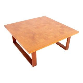 Poul Cadovius for Cado Danish Mid Century Teak Chess Board Coffee Table For Sale