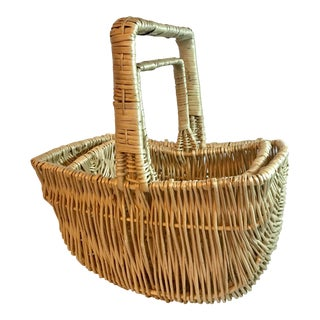 Vintage Boho Chic Nesting Baskets - Set of 2 For Sale