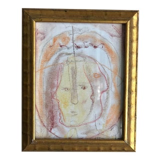 """Inner Me"" Abstract Portrait by Ellen Reinkraut For Sale"