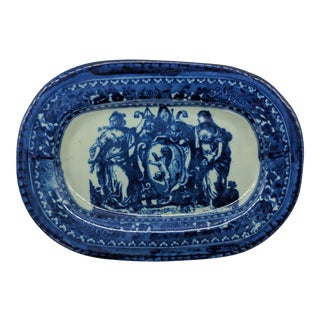 Vintage Blue Flow English Style Ironstone Platter Reproduction For Sale