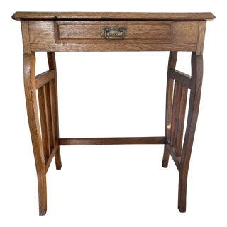 Vintage Oak Writing Desk For Sale