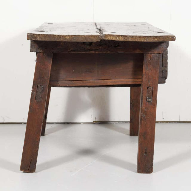 18th Century Solid Walnut Spanish Side Table For Sale - Image 11 of 13