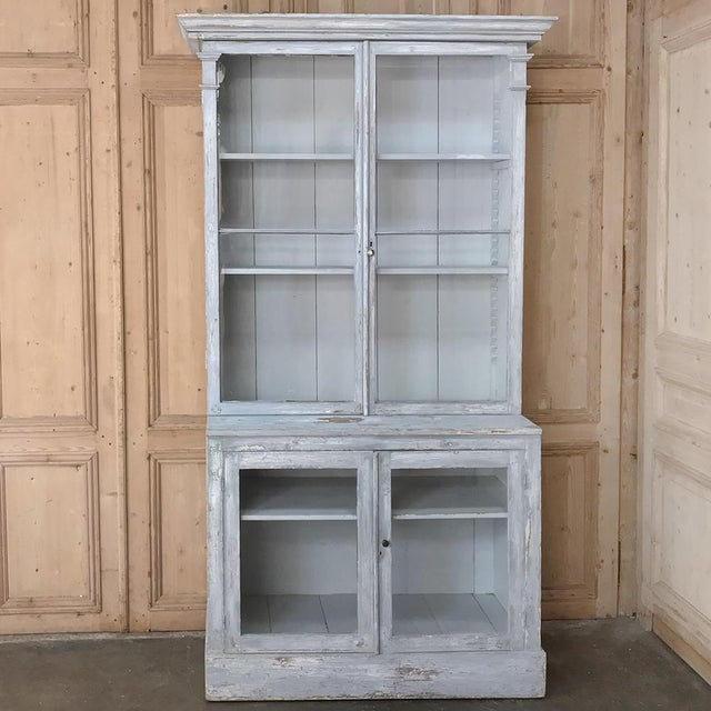 Antique Swedish Scraped Painted Bookcase For Sale In Dallas - Image 6 of 13