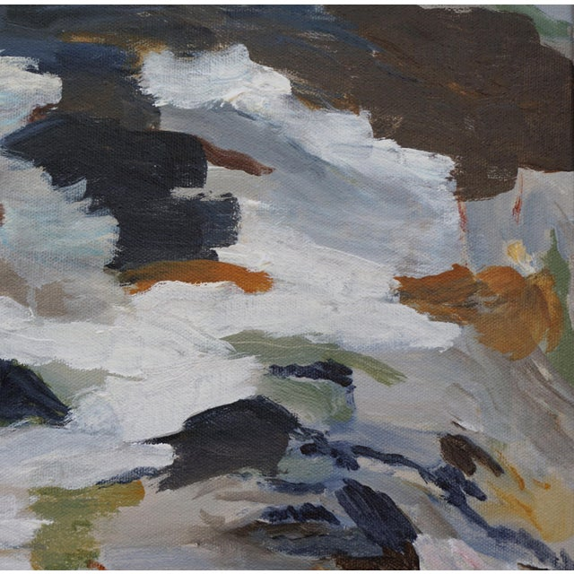 """2010s Laurie MacMillan """"First Thaw"""" Abstract Painting For Sale - Image 5 of 7"""