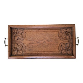 Vintage Arts and Crafts Serving Tray For Sale