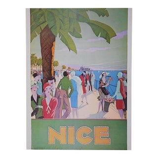 Vintage Poster by Listed Artist - Nice, France C.1973 For Sale