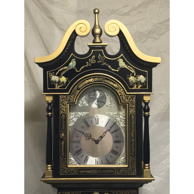 Chinoiserie Tempus Fugit Grandfather Clock - Image 2 of 10