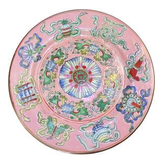 Chinese Export Porcelain Decorative Blush and Caledon Catchall Dish