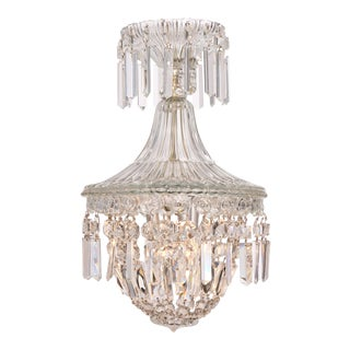 French Crystal Antique Chandelier in the Manner of Baccarat For Sale