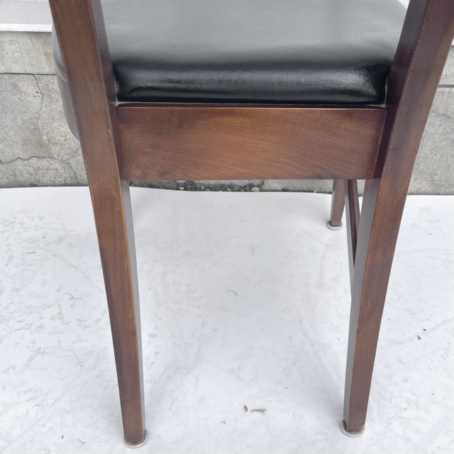 Mid-Century Modern Walnut Desk Chair For Sale In New York - Image 6 of 12