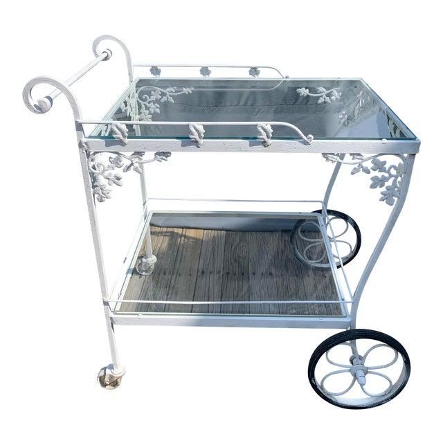 Woodard Orleans White Tea or Bar Car For Sale