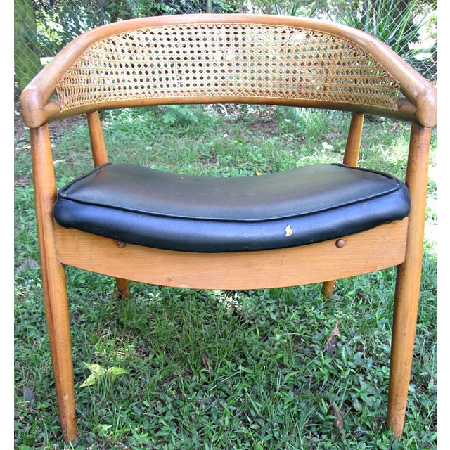 1960s James Mont Cane Back Chairs - Set of 4 - Image 7 of 10