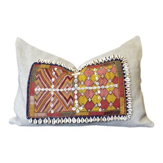 Eliad Jumlo Shell Embellished Pillow For Sale