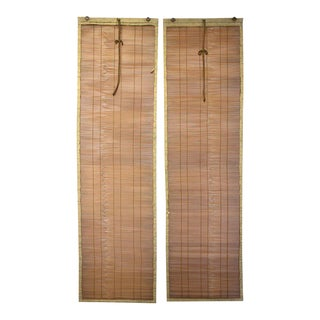 Japanese Sudare Split Bamboo Blinds - a Pair For Sale