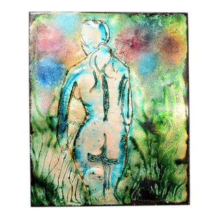 Abstract Nude Enamel in Copper Art For Sale
