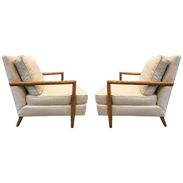 Textile Pair of Mid-Century Modern Lounge Chairs For Sale - Image 7 of 7