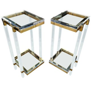 Pair of Tall Side Tables or Pedestals by Charles Hollis Jones For Sale