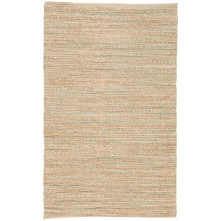 Jaipur Living Canterbury Natural Solid Tan/ Green Runner Rug - 2′6″ × 9′ For Sale
