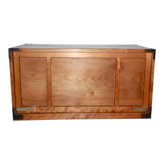 Antique Japanese Wooden Tansu Box For Sale