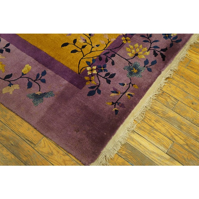 Art Deco 1920s Antique Chinese Art Deco Rug- 6′ × 8′8″ For Sale - Image 3 of 7