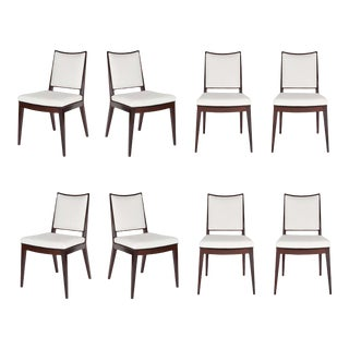 Set of 8 Frame Back Dining Chairs For Sale