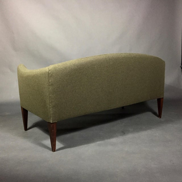 Green Illum Wikkelsø 2-Seat Wool Sofa, Denmark 1960s For Sale - Image 8 of 12