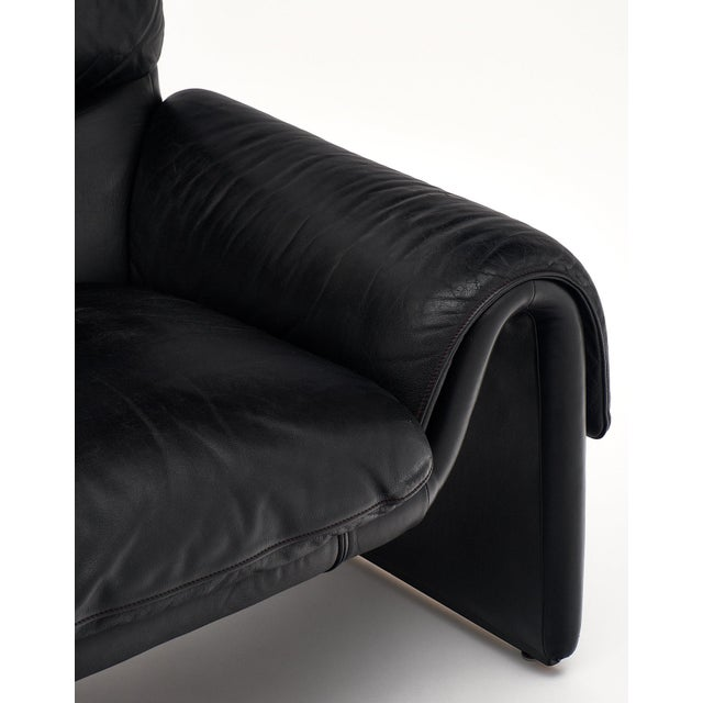 Vintage De Sede Black Leather Armchair For Sale In Austin - Image 6 of 11