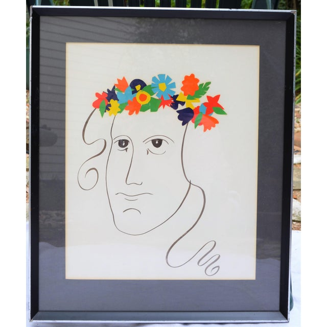 Abstract Bohemian Abstract Face Illustration For Sale - Image 3 of 7