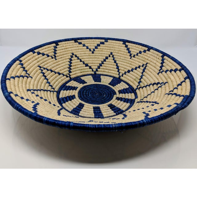 African Large Woven Ugandan Basket For Sale - Image 3 of 8