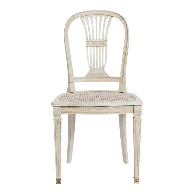 Wood Gustavian Wheat Sheaf Swedish Dining Chairs - Set of 6 For Sale - Image 7 of 8