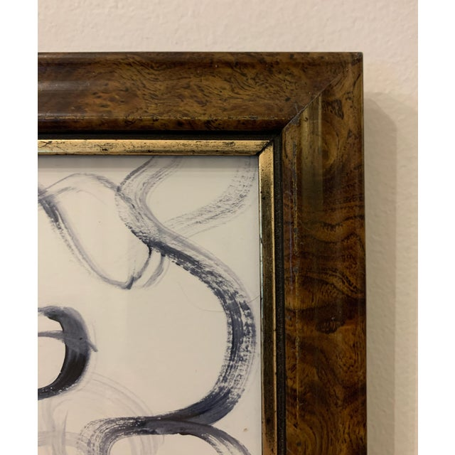 Abstract Original Abstract Framed Watercolor Drawing For Sale - Image 3 of 3