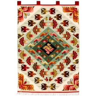 Contemporary Peruvian Woven Rug - 3′11″ × 5′6″ For Sale