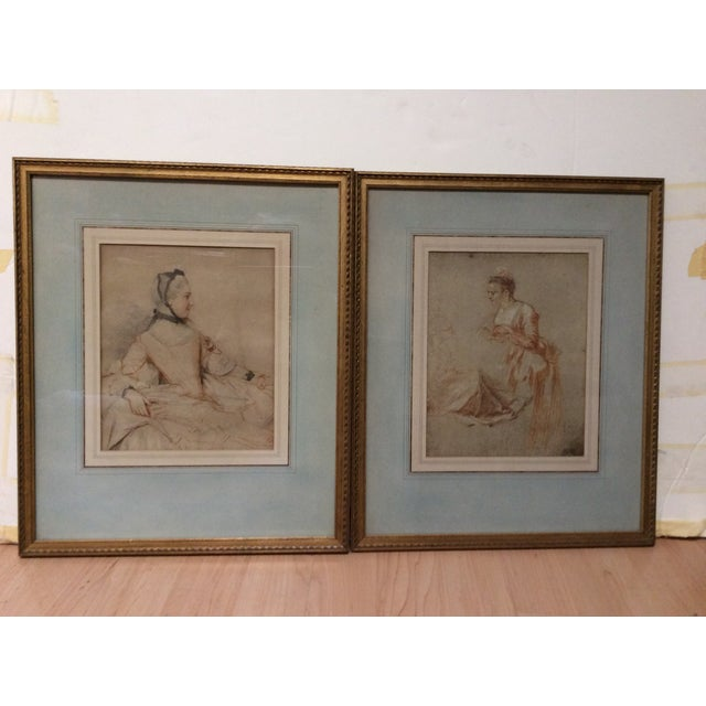 Decorative Prints of Old Master Drawings - A Pair - Image 2 of 8