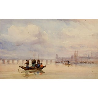 Toulouse France Watercolor Painting, 1900 For Sale