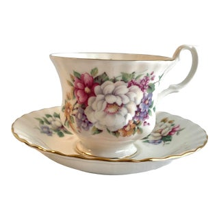 Vintage Royal Albert Sherborne Summertime Series Tea Cup and Saucer For Sale