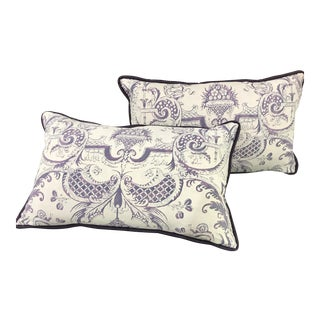 Fortuny Pillows in Unusual Color - A Pair For Sale