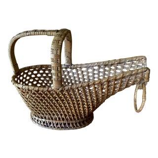 Vintage Wine Basket For Sale