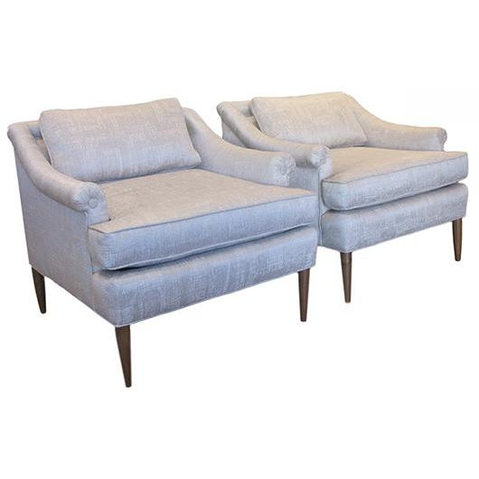 Gray Mid Century Modern Lounge Chairs - a Pair For Sale - Image 8 of 8