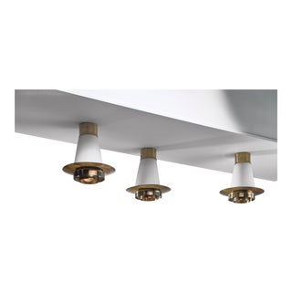 Yki Nummi Set of Three Ceiling Lamps for Orno For Sale