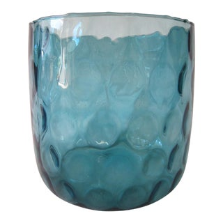 Mid Century Glass Bowl For Sale