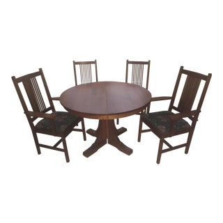 Stickley Cherry Pedestal Dining Set For Sale